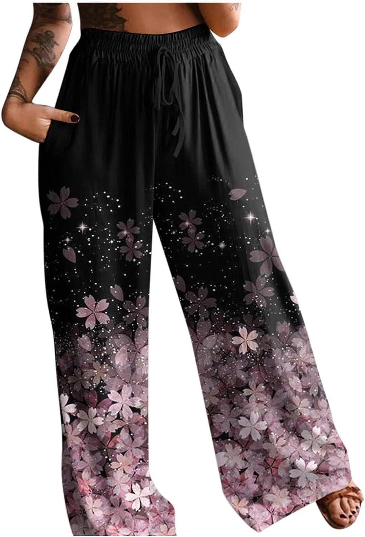 JINRS Women's Comfy Casual Pajama Pants Floral Print Drawstring