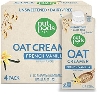 nutpods Oat Coffee Creamer by nutpods, French Vanilla 4-pack