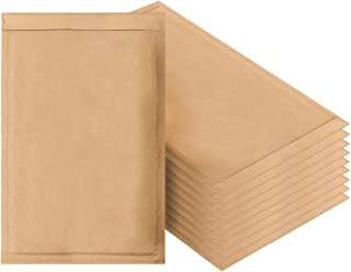 Amiff Natural Kraft Bubble mailers 10.5 x 15 Brown Padded envelopes 10 1/2 x 15 Pack of 10 Kraft Paper Cushion envelopes. Exterior Size 10.5 x 16 (10 1/2 x 16). Peel and Seal. Mailing, Shipping.