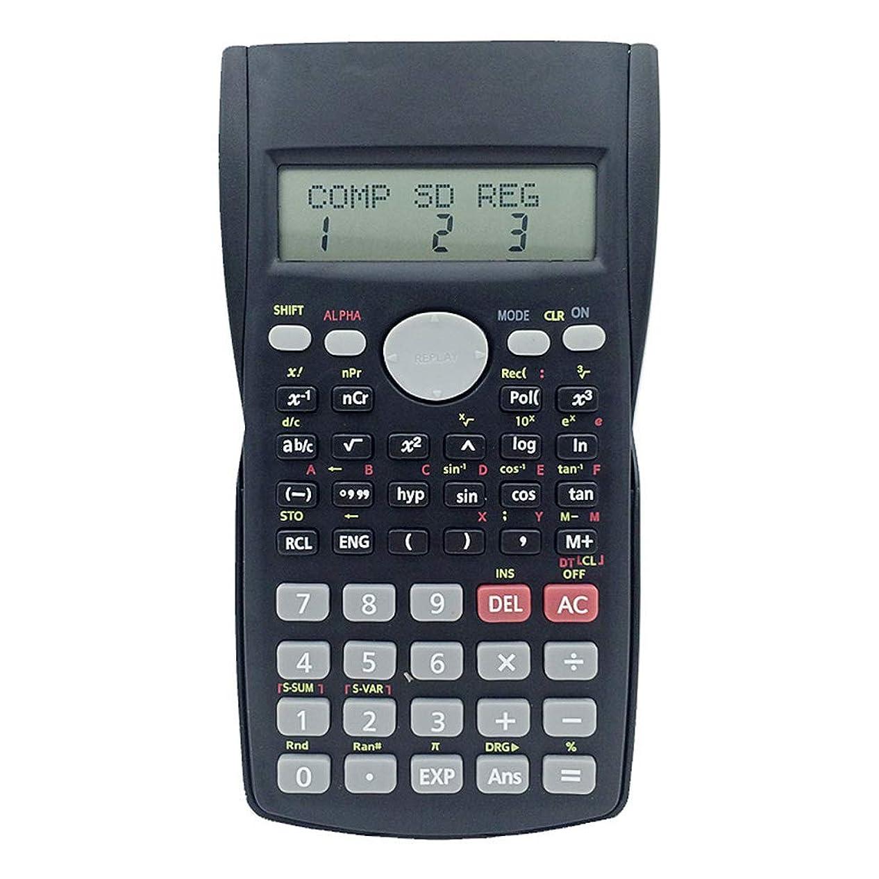 降下マーキー料理をする電子式電卓 科学計算機関数計算機学生固有の多機能計算機 コンパクトポータブル