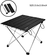 711TEK Portable Camping Table, Ultralight Compact Folding Table with Carrying Bag, Easy to Carry Around, Prefect for Outdoor, BBQ, Picnic, Cooking, Festival, Beach, Home, Indoor
