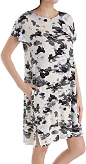 Donna Karan Womens Floral Sleepshirt Pristine Floral Small