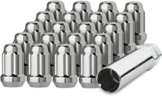DPAccessories LCS3A2HC2CH04020 20 Chrome 1/2-20 Closed End Spline Tuner Lug Nuts for Aftermarket Wheels Wheel Lug Nut