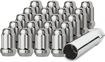 DPAccessories LCS3A6HC2CH04020 20 Chrome 12x1.5 Closed End Spline Tuner Lug Nuts for Aftermarket Wheels Wheel Lug Nut