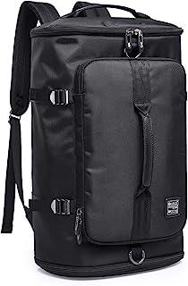 Mochila para Deporte y Viaje - Bolsa Duffels de Gimnasio con Compartimento de Zapatos Multibolsillos y 2 Asas de Mano, Backpack de Lona para Portátil 15.6