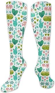 MISS-YAN, Cacti In Watercolo Calcetines para hombres y mujeres, divertidos y locos, para carreras, deporte, deporte, trel o calcetines The Calf