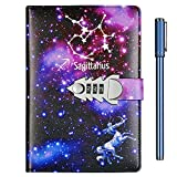 Starry Sky Diary with Lock and Key for Girls,...