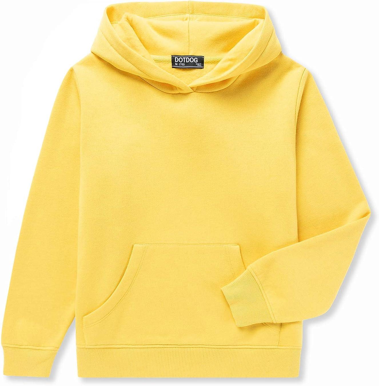 DOTDOG Unisex Kids Soft Brushed Sweatshir Hooded Pullover Super Special SALE held 67% OFF of fixed price Fleece