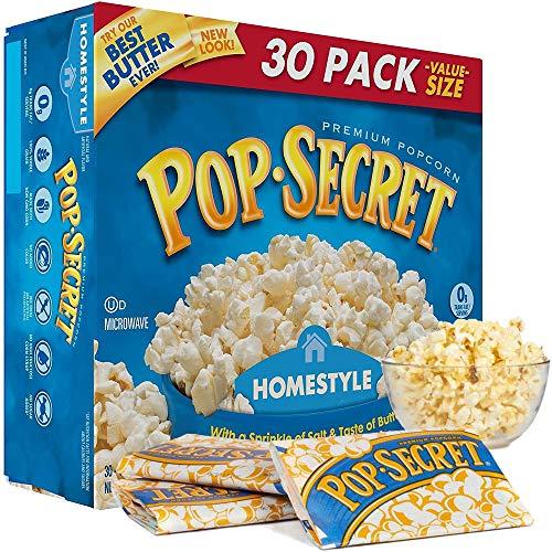 Pop Secret Homestyle Premium Microwave Popcorn 30 Pack Value Box