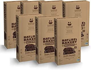 Nature's Bakery Double Chocolate, Brownie, 12 Count (Pack of 7)