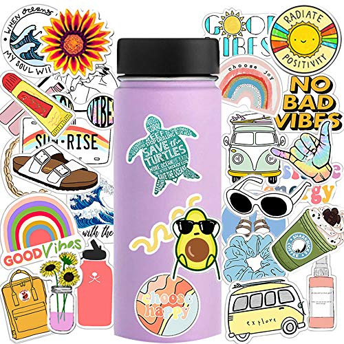 For Sale! Vsco Stickers for Water Bottles 35-Pack,Vinyl Cute Sticker for Hydro Flask Cups Phone Case...