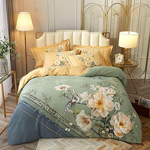 KIKIGO Duvet Quilt Cover Bedding Sets,Duvet cover bedding set, duvet cover sheet and 2 pillowcases-C208_200 * 230
