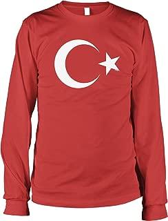 NOFO Clothing Co Turkish Flag Symbol Men's Long Sleeve Shirt