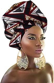 African Traditional Headwrap Scarf Tie, Multi-Color Urban Ladies Hair Accessory Headband Head Scarf