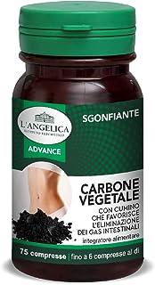 L'Angelica Integratore Alimentare Sgonfiante con Carbone Vegetale e Cumino, Combatte il Gonfiore Addominale e Favorisce la...