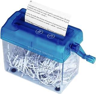 6.57 pulgadas Trituradora manual A6 Mini trituradora port/átil Manual de papel Trituradora manual Herramienta de corte de documentos para el hogar