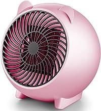Dengc Calentador de Ventilador eléctrico Mini Ventilador de Aire Caliente de cerámica Personal portátil Calentador de Manos de Invierno Estufa de calefacción de Escritorio Radiador-Rosa
