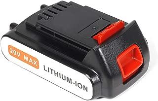 LBXR20 Batería 2.0Ah 20V, LENOGE Black + Decker LB20 LBX20 BL1518 BL1518-XJ BL2018 BL2018-XJ para Black and Decker BL188GB BCD700S BCD700S1KA LDX120C LPHT120 GKC1825L STC1820 Herramienta eléctrica