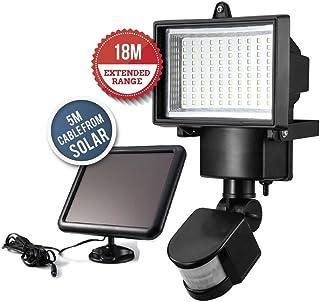 comprar comparacion Luz de seguridad solar, sensor de movimiento para la pared del garaje del patio del jardín, aumento de la seguridad casera...