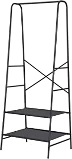 SONGMICS Armario Abierto, Organizador Libre, Perchero de Ropa, Estante Fabricado de Malla, 60 x 50 x 160 cm, Negro RYN01BK