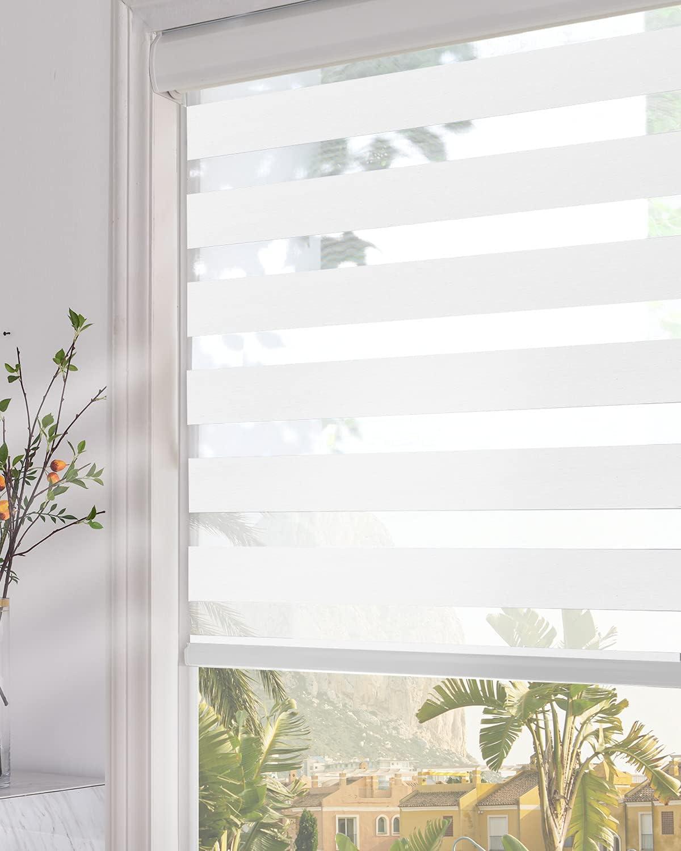 Popular Persilux Zebra Blinds Dual Layer Roller W Luxury 7 X Window Shades 34