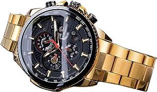 Men Three Dials Stainless Steel Band Calendar Analog Watch Waterproof Automatic Mechanical Wrist Watch