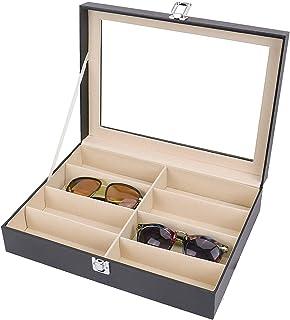 Lunettes 8/Slots Lunettes Lunettes de Soleil Verres Organiseur Portable Coffret de Rangement Bijoux dispay Grid Box Coffre de Rangement