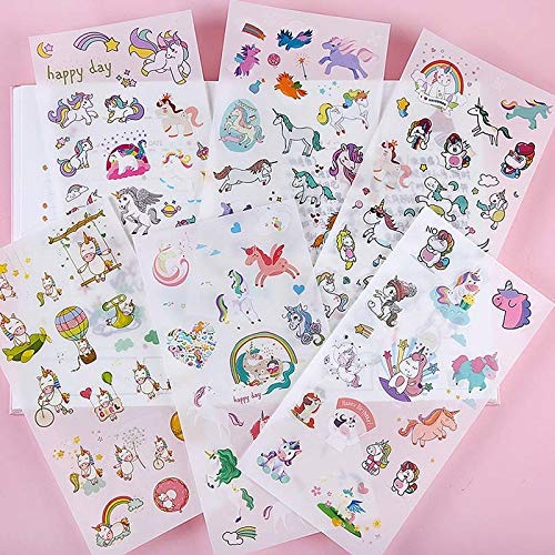 6 Sheets/set Creative Cute Unicorn Mini Paper Sticker Decoration Diy Ablum Diary Scrapbooking Label Sticker Kawaii Stationery