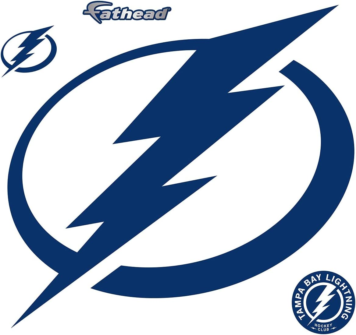 FATHEAD NHL Tampa Bay Lightning Licensed Clearance SALE Limited time Logo- San Antonio Mall - Remo Officially