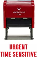 Urgent TIME Sensitive Self Inking Rubber Stamp (Red Ink) - Large