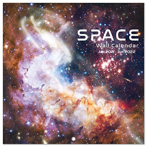 """2021-2022 Calendar - Monthly Wall Calendar 2021-2022, Jan 2021 - Jun 2022, 12"""" x 24"""" (Open), Wall Calendar with Julian Date, Thick Paper, Perfect Calendar for Organizing & Planning"""
