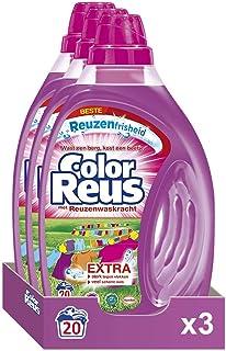 Witte Reus Color Reus Gel, Vloeibaar Wasmiddel, Gekleurde was, 60 (3 x 20) wasbeurten Voordeelverpakking