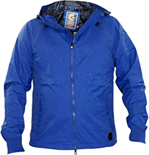 Crosshatch Mens Lightweight Print Hooded Jackets Zip Coats
