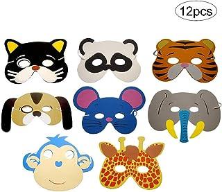 Suministros 12PCS / SET máscaras de animales para niños de espuma EVA Máscaras Party Pack cabina
