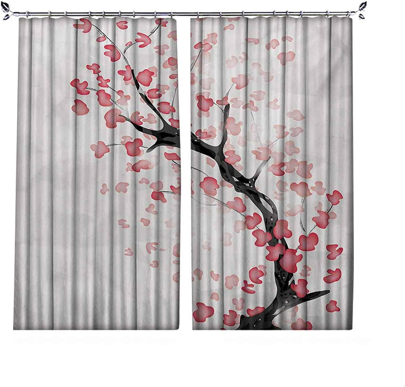 Room online shopping Darkening Cherry Blossom Curtain Dreamy Nature Japanese Latest item in