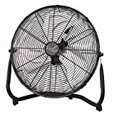 Vie Air VA-14 Industrial High Velocity Tilting 3 Speed Heavy Duty Metal Floor Fan