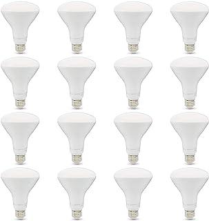 AmazonBasics 65W Equivalent, Soft White, Dimmable, 10,000 Hour Lifetime, BR30 LED Light Bulb | 16-Pack