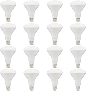 AmazonBasics 65W Equivalent, Soft White, Dimmable, 10,000 Hour Lifetime, BR30 LED Light Bulb | 16-Pack