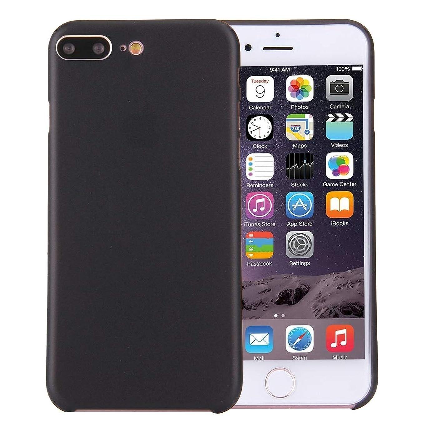 プレート透ける余韻IPhone 8 Plusおよび7 Plusに最適超薄型超軽量透明PP保護ケース(ブラック) Yikaja (色 : Black)