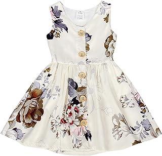 HenzWorld Unicorn Dress Girls Princess Birthday Cosplay Party Outfit Playwear Hairclip Sleeveless Tank Tops