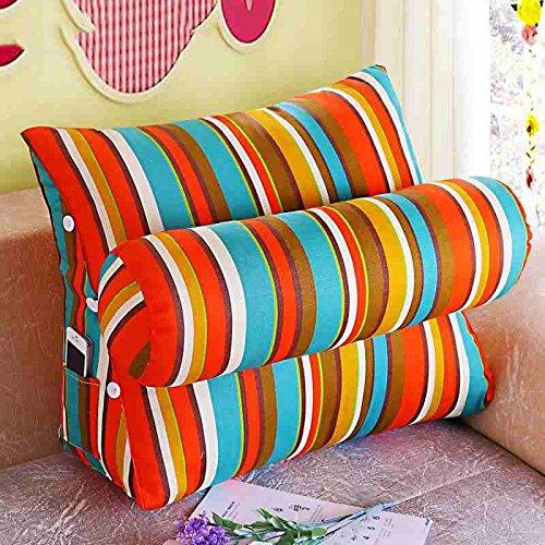 Dossier De Chevet Bed oreiller bureau coussin canapé coussin grand lit oreiller taille coussin dossier de coussin triangulaire (Couleur : A, taille : S)