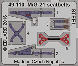 Eduard 1:48 MiG-21 Seatbelts Steel Color PE Detail Set #49110