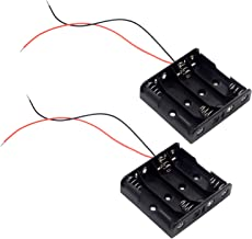 LAMPVPATH (Pack of 2) 4 AA Battery Holder, 4 AA Battery Holder with Leads, 4 AA Battery Holder with Wires