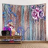 KHKJ Tapiz con Estampado de Flores de Mariposa 3D, Tapiz de Mandala, Toalla de Playa Redonda Boho, Manta de protección Solar, Bohemio A6, 200x150cm