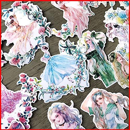 Flower dance vintage personalized scrapbook Stickers scrapbooking material personalized sticker happy planner junk journal