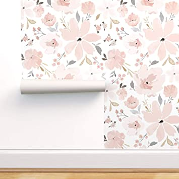 Minimalistic Field Abstract Flowers Removable Wallpaper Pattern #152