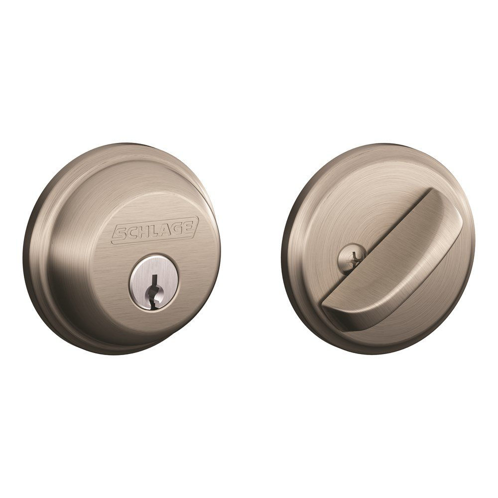 schlage deadbolt parts amazon comschlage b60n 619 single cylinder satin nickel deadbolt