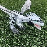 Webla Can Walk Electric Toy Simulation Model Dinosaur Electric Spray con batería(Verde)