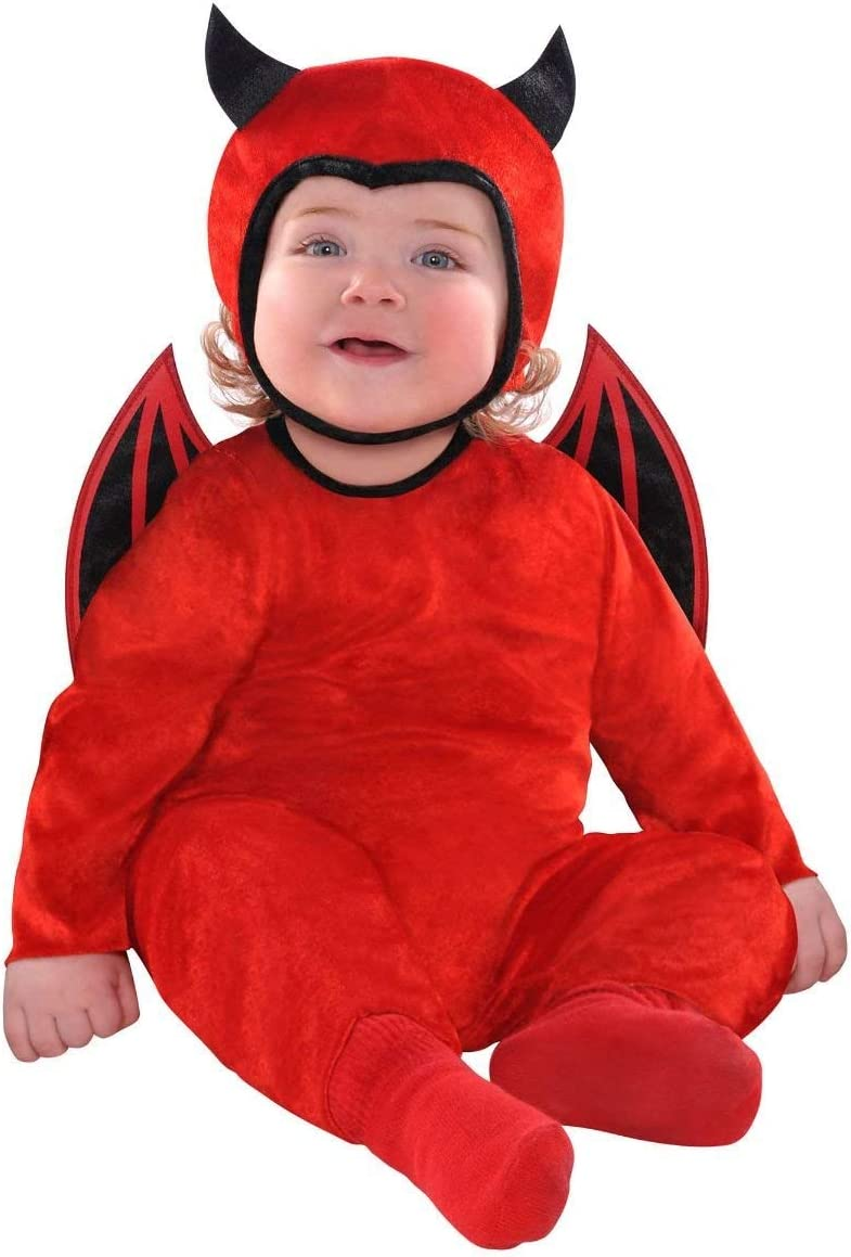 amscan 846797 Limited price sale Baby Cute as Large-scale sale a Months 0-6 Costume Old Devil Red