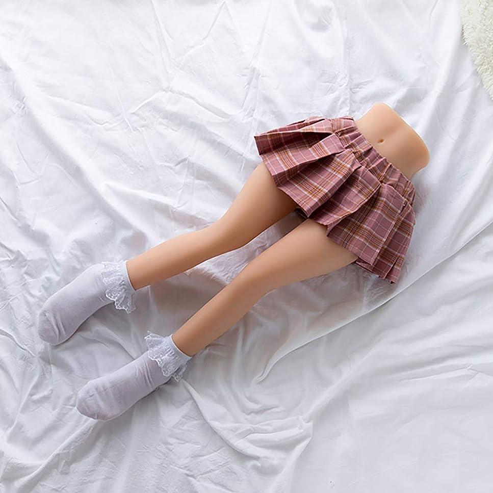 ファッション衝撃振り向くシリコーン太ももセックス人形、ラブドールセックスドール下半身男性用オナホール脚モデル2つの開口部肛門と膣金属スケルトン